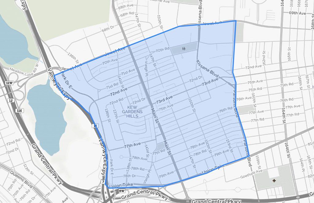 Kew Gardens Hills Queens Boundaries