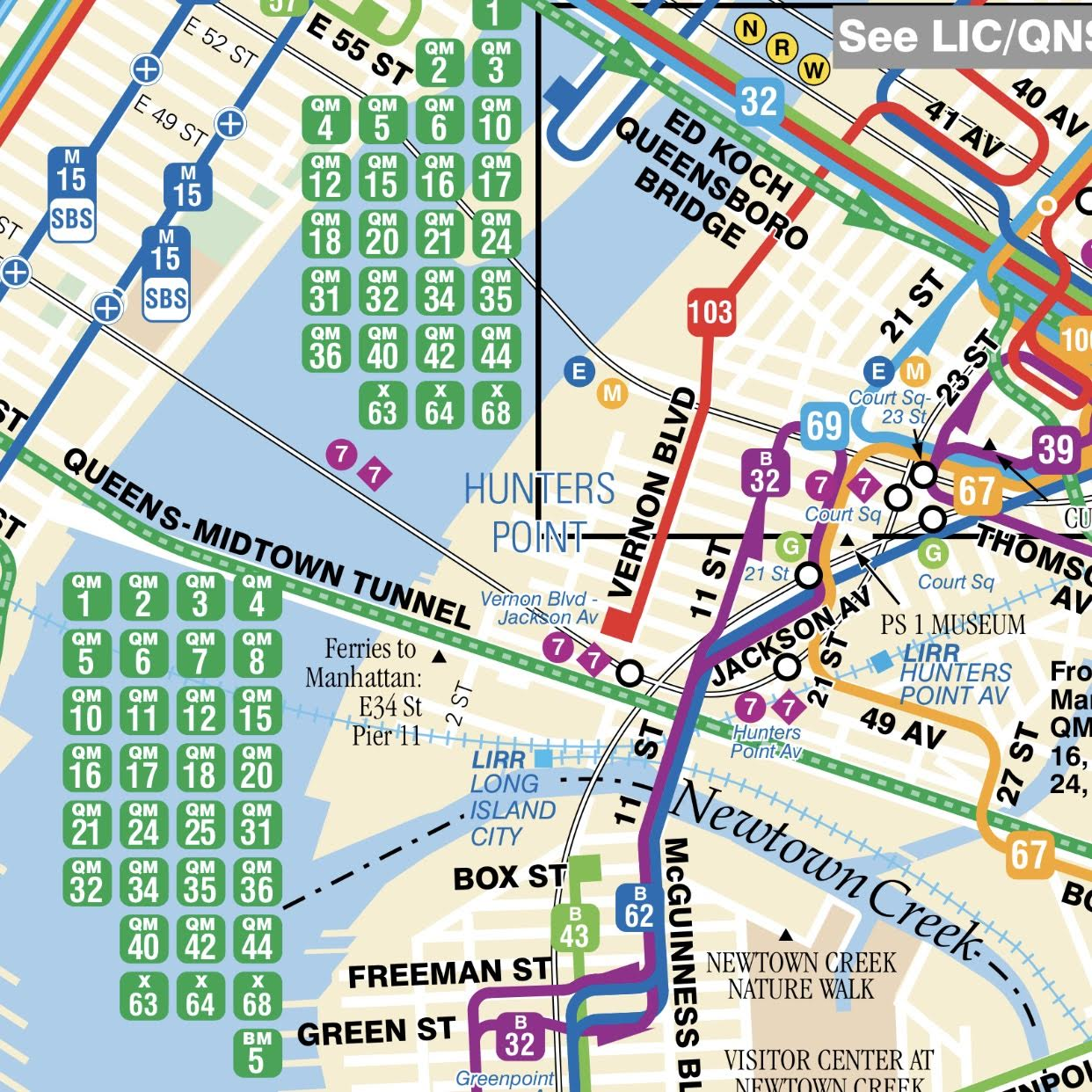 Hunters Point Queens Nyc Bus And Subway Map Queens Real Estate