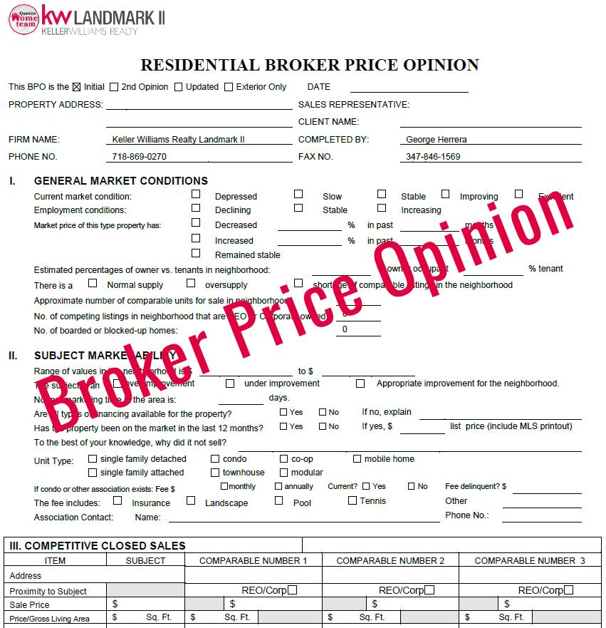 broker price opinion
