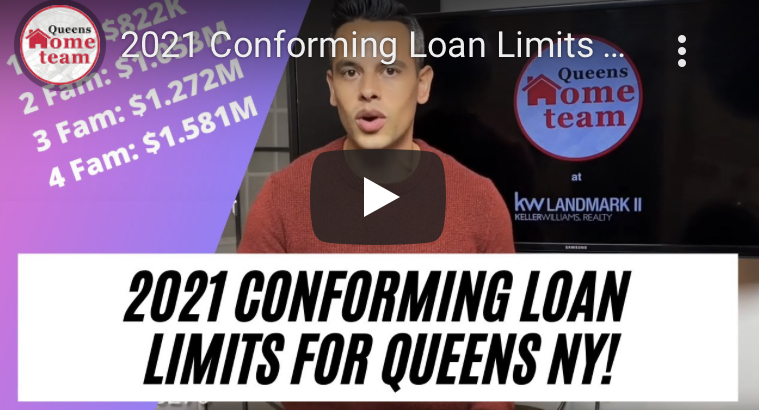 2021 Conforming Loan Limits for Queens NY