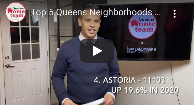 Top 5 Queens Neighborhoods with biggest Home Price Gains in 2020